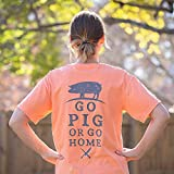 Go Pig or Go Home T-Shirt, Melon 3X