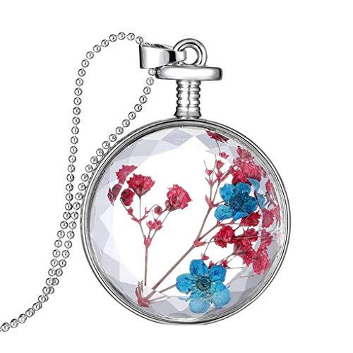 Conijiwadi secas prensadas joyería de la Flor Collar de la Foto Caja...