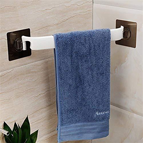 QNWTFD Toallero Toallero con ventosa Adhesivo for barra de colgar en la esquina del inodoro sin agujeros, Colgador de toallas sin taladro, Toallero de baño, Montaje en pared -A 38x45x9.5cm (15x18x4inc
