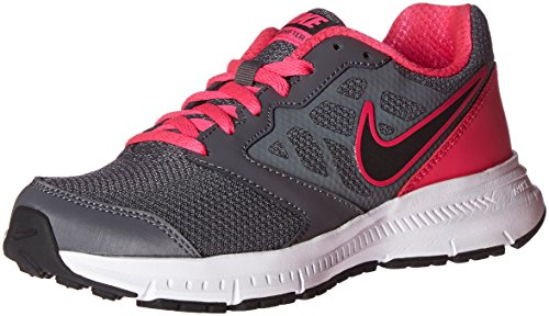 Nike WMNS Downshifter 6 Scarpe da corsa, colore: Bianco, (Grigio scuro nero/fucsia.), 5