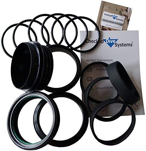 Checkup Dive Systems Unisex– Erwachsene Ringe Set, Schwarz, 90
