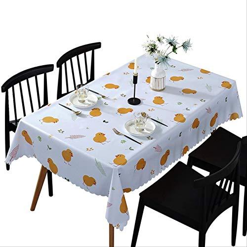 Mantel Rectangular de PVC de Pollo Impermeable y a Prueba de Aceite desechable decoración de Fiesta de Comedor en casa 135 * 200 Cm