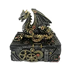 Keep your secrets safe with this fantastic steampunk box Cast in the finest resin Expertly hand-painted Size 18.5 cm Weight 116667 kg
