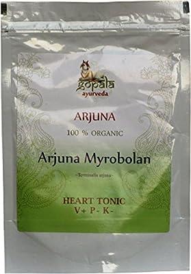 ARJUNA Powder (USDA Certified Organic) Terminalia arjuna - 250g Zip Lock Pouch   100% Pure and Organic Herbal Food Supplement