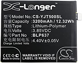 Cameron Sino Li-Polymer 3.85V 3200mAh / 12.32Wh Replacement Battery Compayible with OnePlus BLP637, Fits OnePlus 5/5 Dual SIM/A5000, With 1 Toolkit