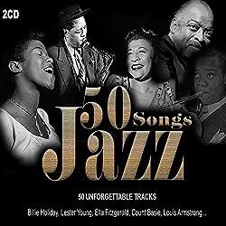 2 CD 50 Canzoni Jazz. Benny Goodman, Duke Ellington, Louis Armstrong, Dizzy Gillespie, Billie Holiday