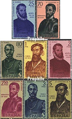 Prophila Collection Spanien 1193-1200 (kompl.Ausg.) 1960 Entdecker Amerikas (Briefmarken für Sammler)