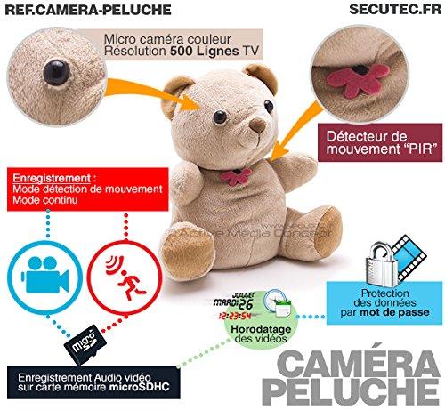Oso de Peluche (autonomía Larga cámara Oculta detección de ...