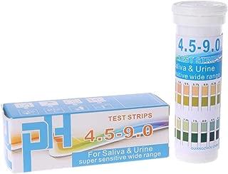 Baoyouls テストストリップ 尿および唾液の表示器のための150のストリップのびん詰めにされたPHテストペーパー範囲PH 4.5-9.0