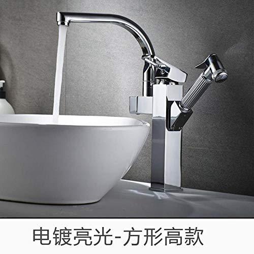 CZOOR Keukenarmaturen voor alle soorten pompen van koper, voor warm en koud water, intrekbaar, met spoelbak voor wasmiddel, multikraan. A80