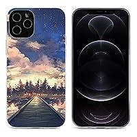 夕焼 iPhone 12&iPhone 12 Pro&iPhone 12Pro Max&iPhone 12 miniと互換性のあるクリスタルクリアTPUケース、アンチイエロー、保護耐衝撃落下保護ケース