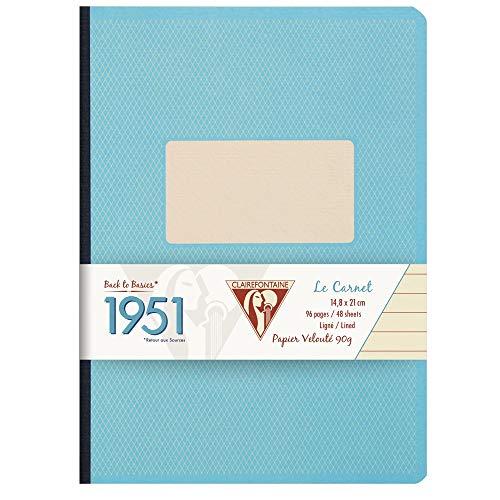 CLAIREFONTAINE Caderno com Pauta 1951 A5, Turquesa