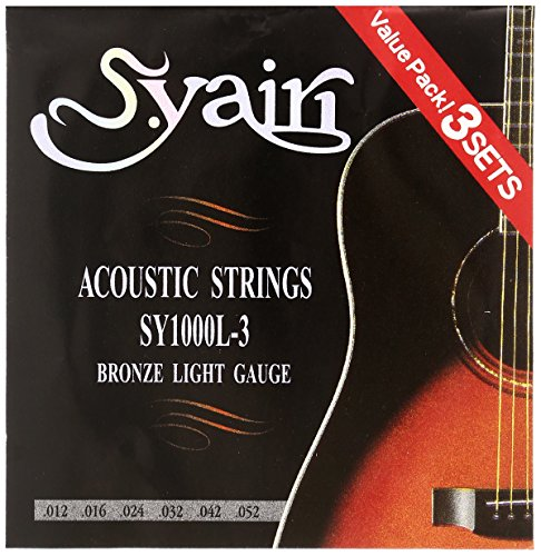 S.Yairi(エスヤイリ)『アコースティックギター弦 SY-1000L-3 3セットパック ライト』