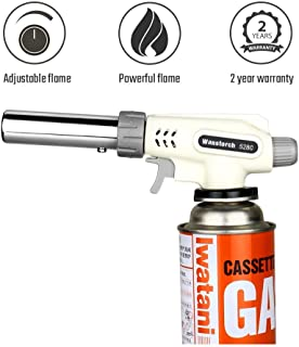 Sondiko Butane Torch Kitchen Torch, Professional Adjustable Flame for Desserts, Creme Brulee, BBQ, Baking and much more(Butane Gas Not Included)