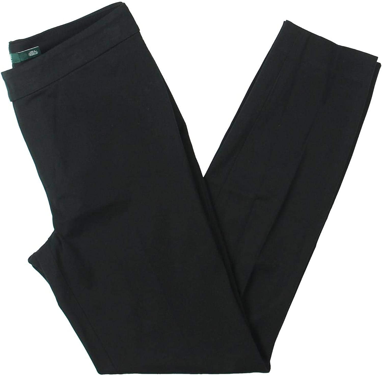 Lauren Ralph Lauren Womens Twill Professional Skinny Pants Black 4