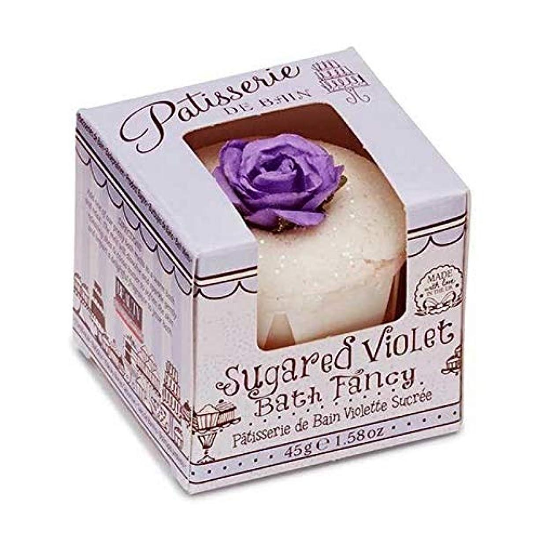 病的ぼろ有名人[Patisserie de Bain ] パティスリー?ド?ベイン砂糖紫箱入り風呂メルト45グラム - Patisserie de Bain Sugared Violet Boxed Bath Melt 45g [並行輸入品]