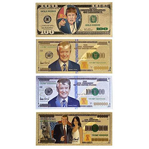 PXN Prop Geld Papier American 100 Bills Fake Money Dollar Gold Banknoten USA, 1 Stück Trump Money2