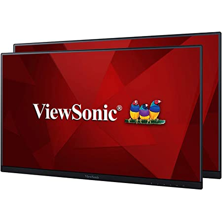 ViewSonic VA2456-MHD_H2 Frameless Dual Pack Head-Only 1080p IPS Monitors with HDMI DisplayPort and VGA for Home and Office,Black,24-Inch Head Only Dual Pack
