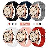 Syxinn Compatible con Correa Samsung Galaxy Watch 42mm/Galaxy Watch 3 41mm 20mm Silicio Banda Pulsera para Galaxy Watch Active/Active 2 40mm 44mm/Gear Sport/S2 Classic/Huawei Watch 2