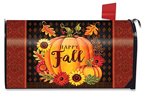 Briarwood Lane Happy Fall Pumpkin Magnetic Mailbox Cover Floral Autumn Standard