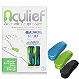 Aculief - Award Winning Natural Headache, Migraine and Tension Relief - Wearable Acupressure - Stress Alleviation - Simple, Easy & Effective - 3 Pack (Variety Pack)