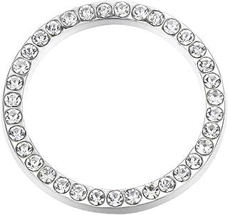 VOSAREA 4 peças de anéis adesivos brilhantes para decoração de carro, strass, botão de ignição de parada de partida do mot...