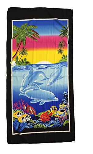 Ducomi Honolulu - Telo Mare da Spiaggia Massima Assorbenza e Morbidezza - Asciugamano Ideale per Vacanze, Spiaggie e Piscina - 70 x 140 cm (M-09)