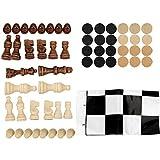 Regalo de Julio Juego de ajedrez, Juego de ajedrez de Madera, con Tablero de ajedrez para niños, Adultos, Juego Intelectual