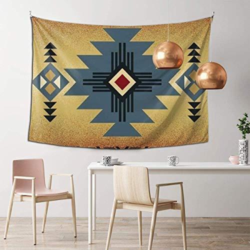 N/A – Decoración de pared psicodélico, manta de playa para decoración de dormitorio, tapiz indio de 106 x 152 cm, bandera de Puerto Rico, color negro