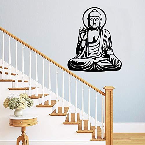 Tianpengyuanshuai Elegante Boeddha muurstickers, decoratie, zelfklevend, decoratie van het huis