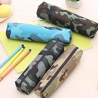 XQxiqi689sy XQxiqi689sy Mäppchen für Jungen und Mädchen, Camouflage-Optik, aus Segeltuch, Mini-Tasche, Schulbedarf