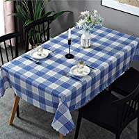 家の装飾テーブルクロスPVC北欧長方形テーブルカバーワイプクリーン防水防汚防油テーブルクロスパーティーケータリングレストランカフェ(コーヒーチェック柄135x250cm)