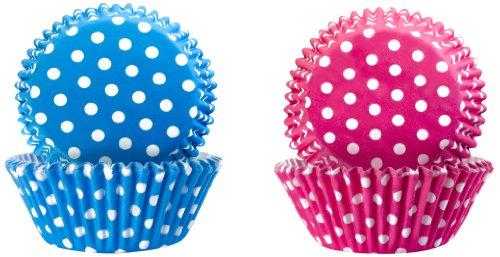 Ibili 735904 Capsule à pâtisserie antiadhésive Lot de 50 pièces Rose + 50 pièces Bleu en papier Imperméable