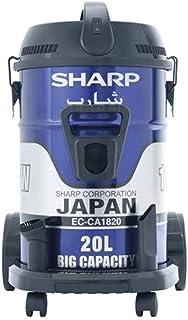 Sharp EC-CA1820-X Pail Can Vacuum Cleaner with Cloth Filter, 1800 Watt - Blue