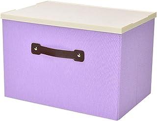 XAGB Boîtes de rangement avec couvercles en plastique, sacs de rangement en polyester pliables pour sacs de paniers avec o...
