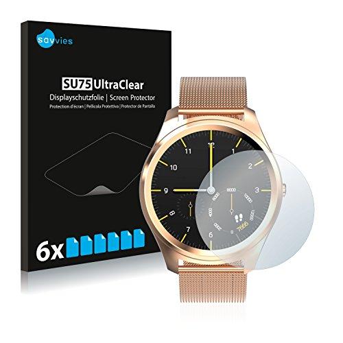 Savvies 6X Schutzfolie kompatibel mit Diggro DI03 Displayschutz-Folie Ultra-transparent