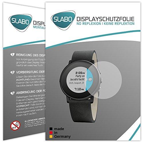 Slabo 2 x Bildschirmschutzfolie für Pebble Time Ro& Bildschirmschutz Schutzfolie Folie No Reflexion | Keine Reflektion MATT