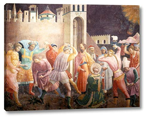 "Stoning of St Stephen by Paolo Uccello - 9"" x 12"" Gallery Wrap Canvas Art Print - Ready to Hang"