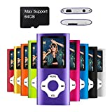 Mymahdi MP4 MP3 / Portable, 1.8 inch devaient Purple with and LED Screen Memory Card Slot, Max Support 128GB
