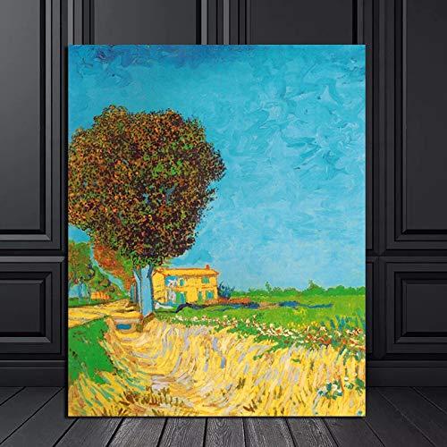 KWzEQ Berühmte Maler Leinwand Wandkunst Poster drucken Moderne Wohnzimmer Dekoration Malerei Wandbild,Rahmenlose Malerei,50x60cm