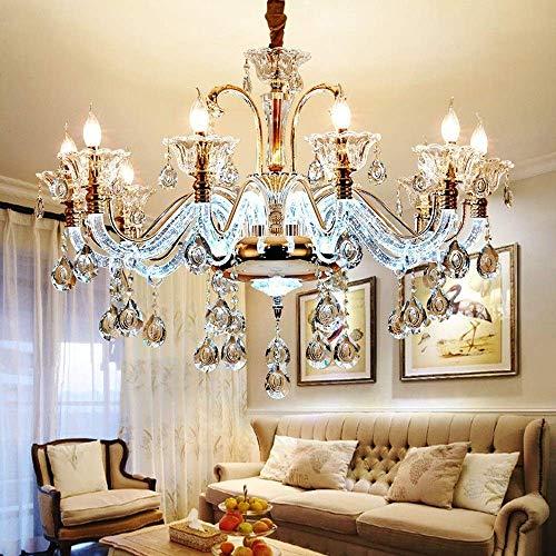 UWY Nuevo candelabro Grande de Cristal Europeo Soporte de lámpara múltiple Lámpara de Techo de Pasillo Brillante de Lujo Lámpara Colgante de Arte Moderno Casa Villa Decoración de Hotel Hermosa l