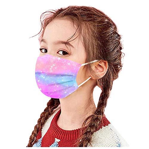 Snakell Mund und Nasenschutz 50 Stück Einmal-Mundschutz, Einweg Erwachsene Mundschutz mit Motiv Tie dye Bunt MNS Mund Nasenschutz 3 Lagig Atmungsaktiv Bandana Halstuch für Kinder Erwachsene