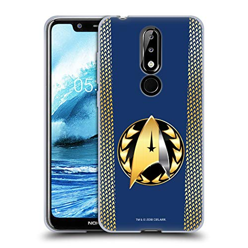 Head Case Designs sous Licence Officielle Star Trek Discovery Insigne D'Amiral Uniformes Coque en Gel Doux Compatible avec Nokia 5.1 Plus / X5