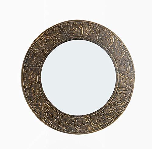 YBGW Standspiegel Gro Badezimmerspiegel Spiegelschrank Spiegelspiegelrahmen Antiker Badezimmerspiegel Pastoral Retro Style Cabinet Round
