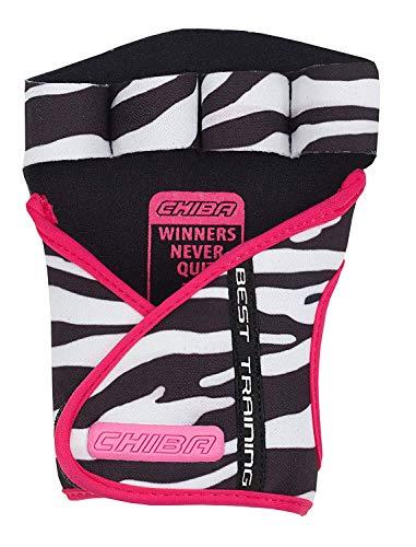 Chiba Unisex's Lady Motivation Glove, Black/White/Pink, Large