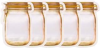 boîte de rangement Réutilisable Mason Jar Bouteilles Sacs Sacs Candy Biscuits Sac à biscuits Sac à bêtises fraîches Sac de...