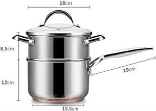 XSWY Stainless Steel Milk Pan Non-stick Baby Hot Milk Pot Household (Color : B, Size : 18)