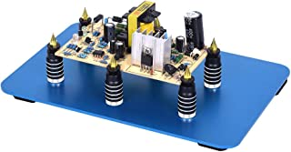 Toolour 6 Pieces PCB Circuit Board Holder - Magnetic Fixture Tower On the Blue Steel Base for Electronic Boards Repairing Soldering Desoldering Rework