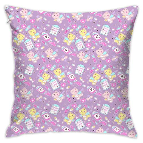Mabell Beautifully Decorated Home Purple Creepy Cute Teddy Bears by FrostedSoSweet Throw Pillow Case 18X18 Inches