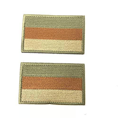 2 Parches Velcro x Bandera de Alemania Alemán Emblema nacional Bandera Táctico bandera con velcro podría ser pegado a la ropa, chaleco, gorra, mochila Directamente OD